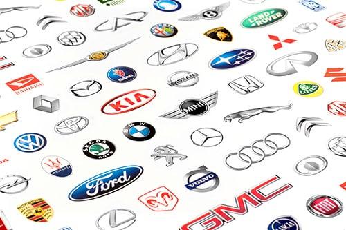 automotive logo collage