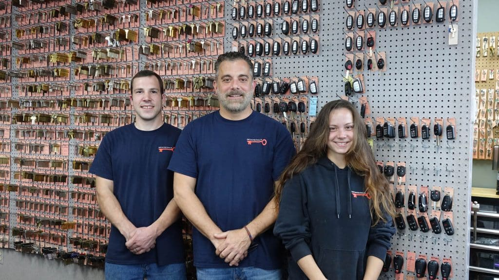 Dash Lock & Key owner, Joe and two of his employees