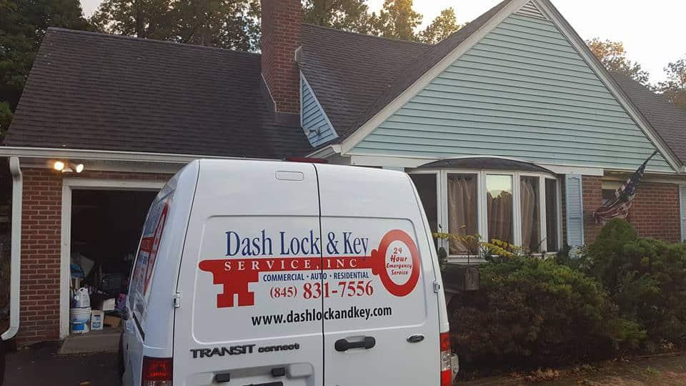 Dash Lock & Key van on a house call