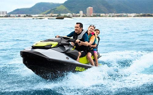 Family fun on a Sea-Doo MY21-REC-GTI
